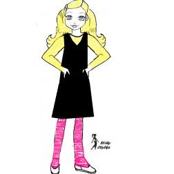 Panenka  Otylka, tělíčko a šaty, VP 60 cm